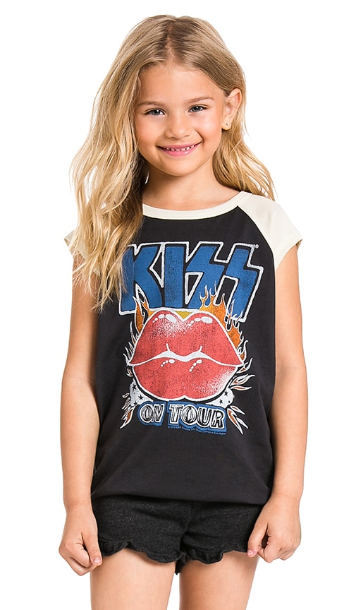 Junk Food Kiss Tee in Jet Black & Ivory