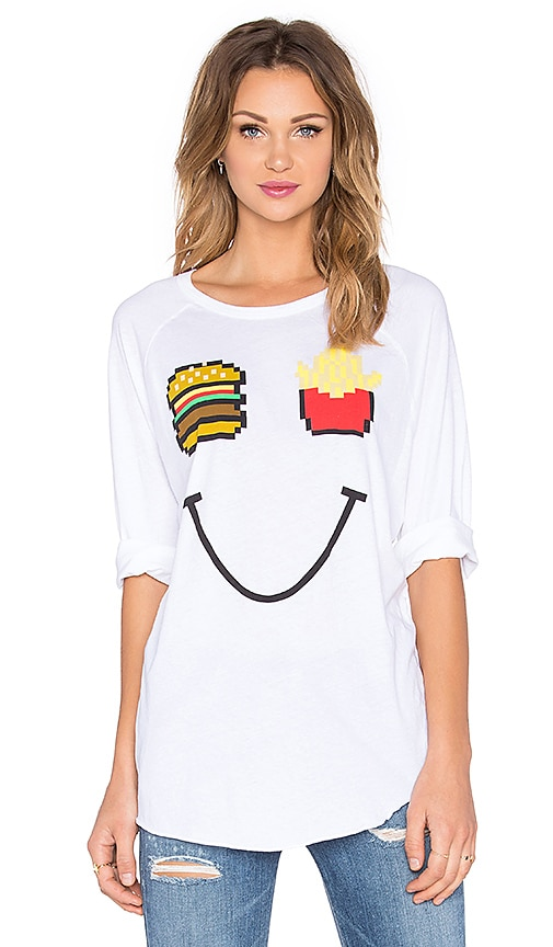 Junk Food Fast food Tee in Electric White