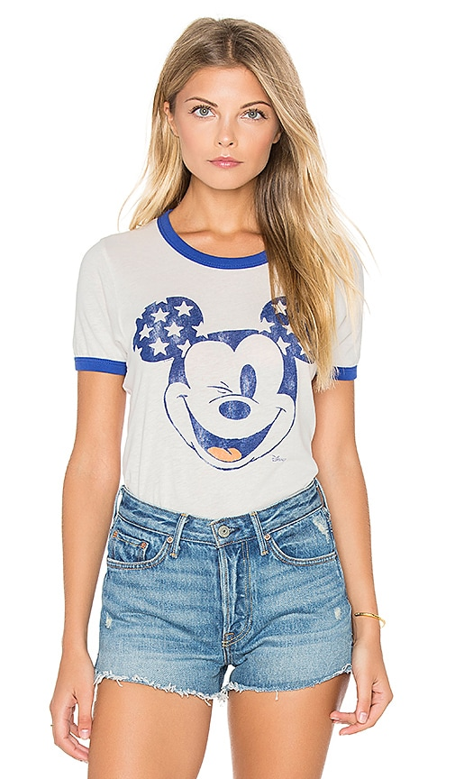 Junk Food Winking Mickey Tee in White