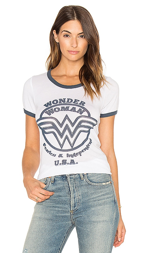 Junk Food Wonder Woman Tee in White