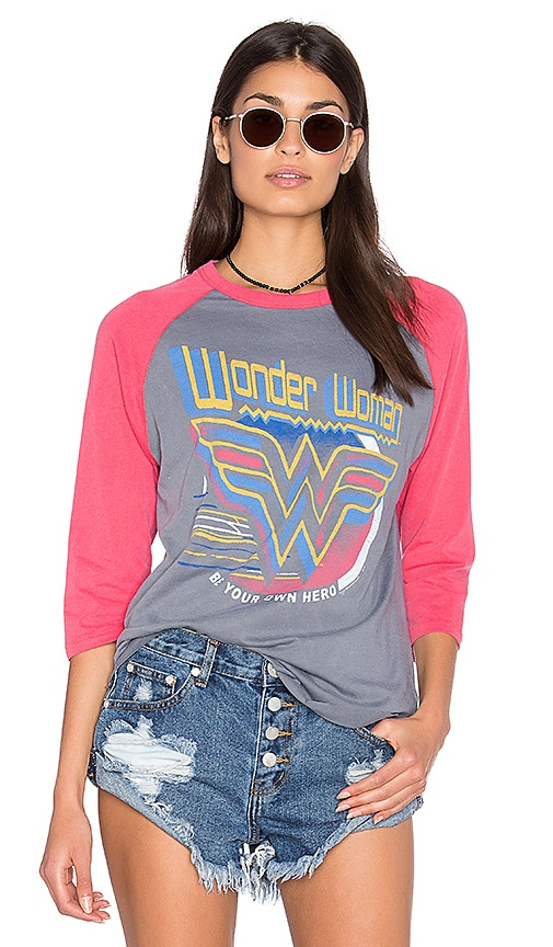 Junk Food Wonder Women Tee in Gray