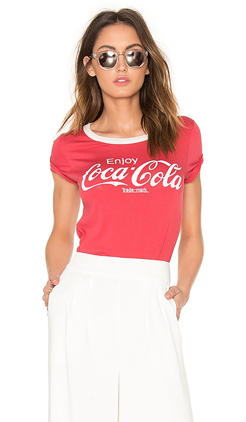 Junk Food Coca Cola Tee in Red