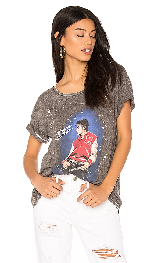 Junk Food Michael Jackson Thriller Tee in Charcoal
