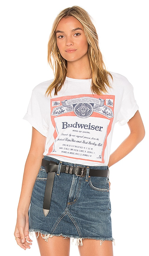 T-SHIRT À LABEL BUDWEISER