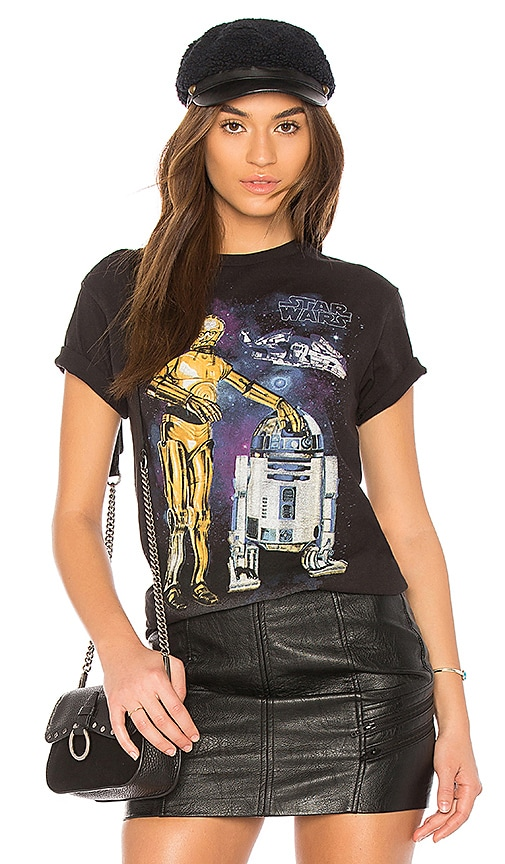Junk Food Star Wars R2-D2 and C-3PO Tee in Black