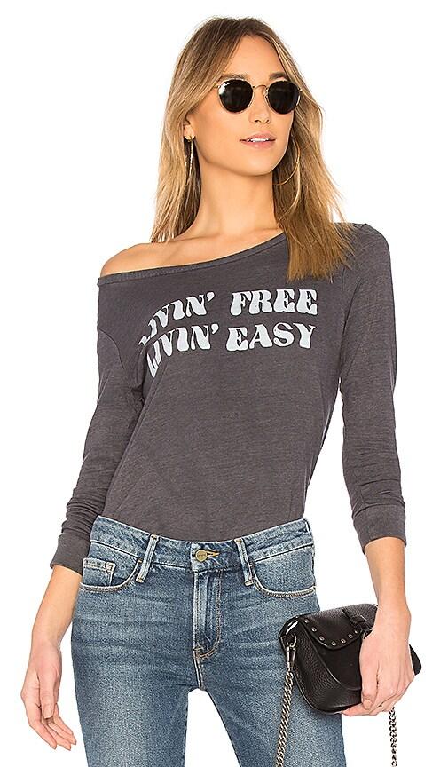 Junk Food Livin' Free Livin' Easy Tee in Gray