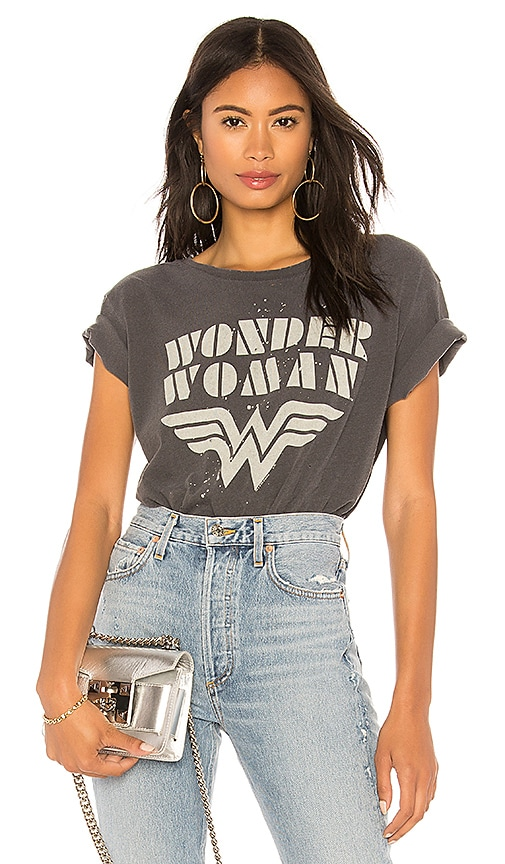 Junk Food Wonder Woman Tee in Black