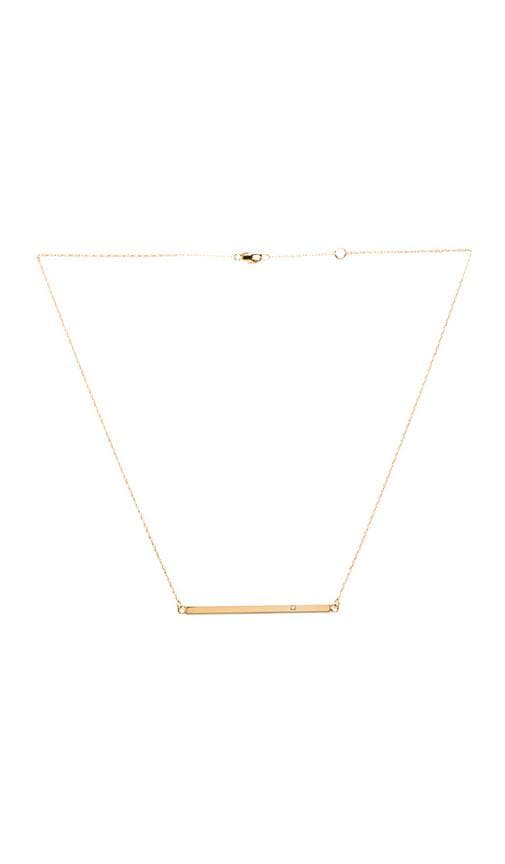 Horizontal Bar Necklace with Diamond
