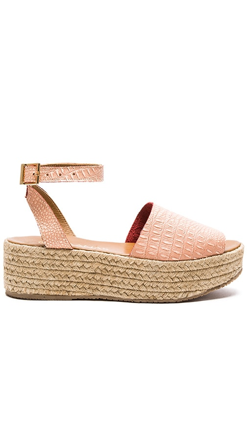 Kaanas Trinidad Avarca Wedge in Pink