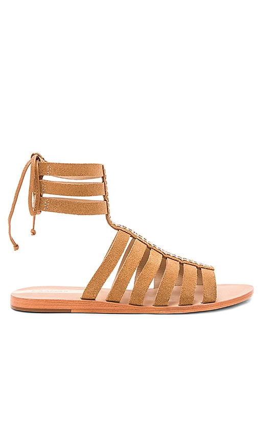 Kaanas Copacabana Nubuck Gladiator in Tan
