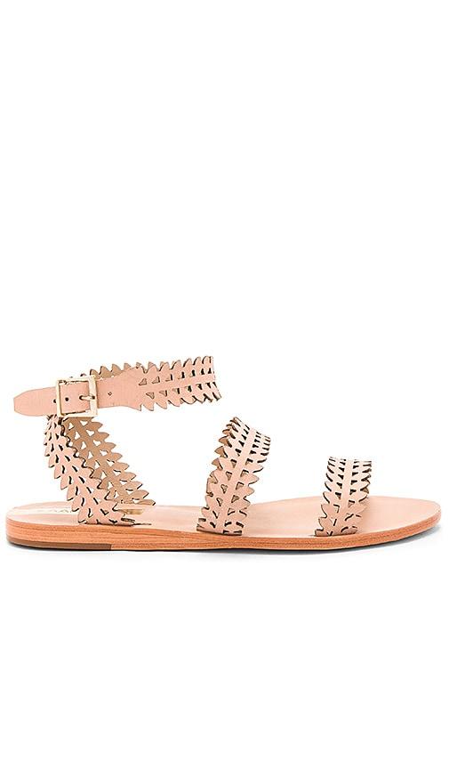 Kaanas Florianopolos Laser Cut Sandal in Tan