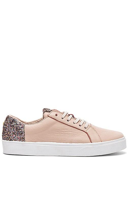Kaanas San Rafael Sneaker With Contrast Heel in Blush