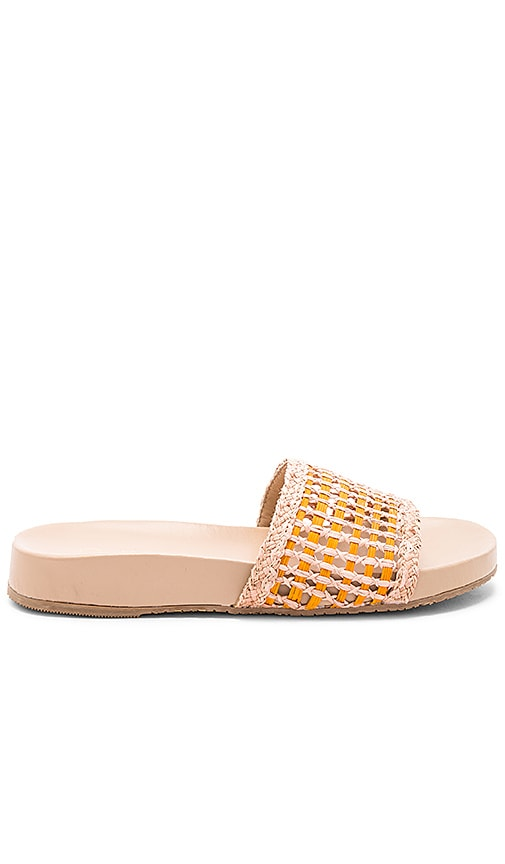 Pattaya Scalloped Pool Slide in Pink. - size 8 (also in 6,7,9) Kaanas