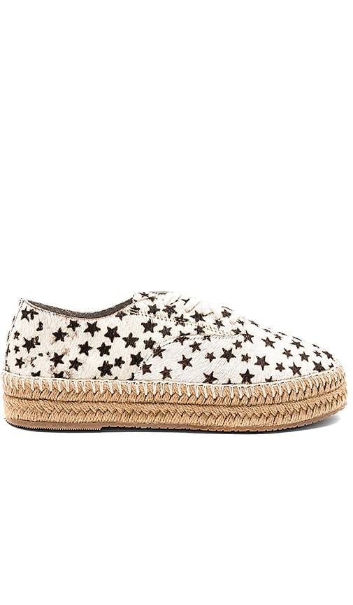 Kaanas Montauk Lace Up Espadrille in Beige