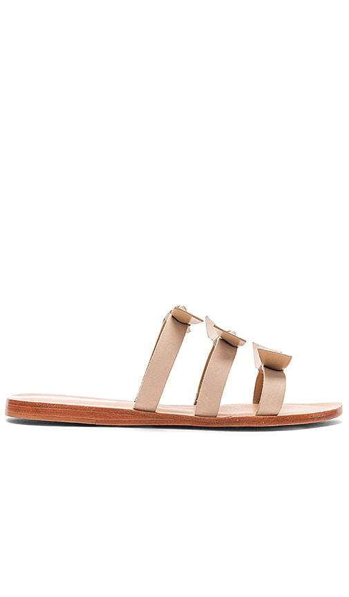 Kaanas Recife Bow Sandals in Beige