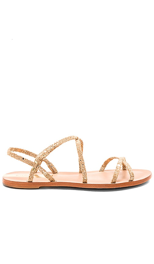Kaanas Salvador Sandal in Metallic Gold
