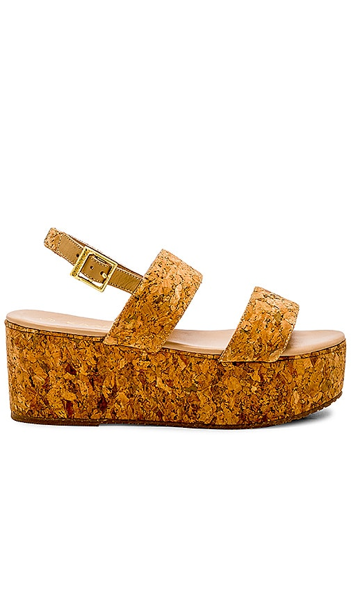 Kaanas Goa Cork Wedge in Tan