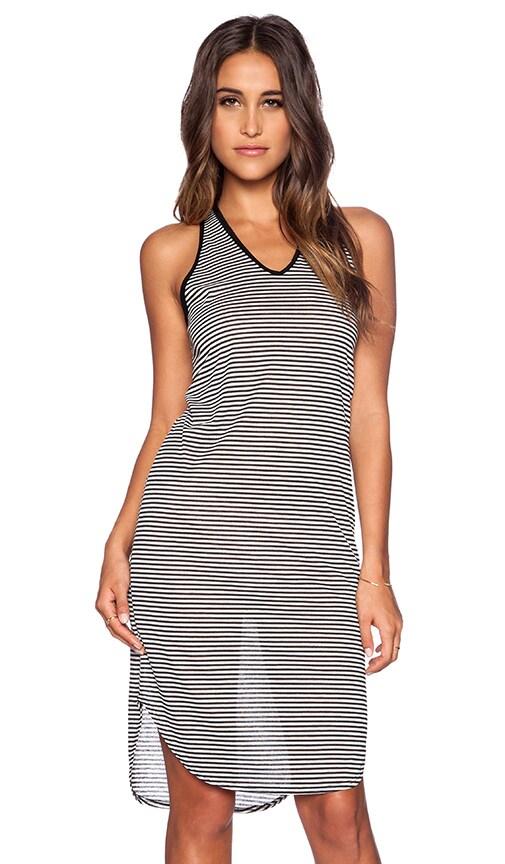 Kain Everly Dress in Black & White Stripe