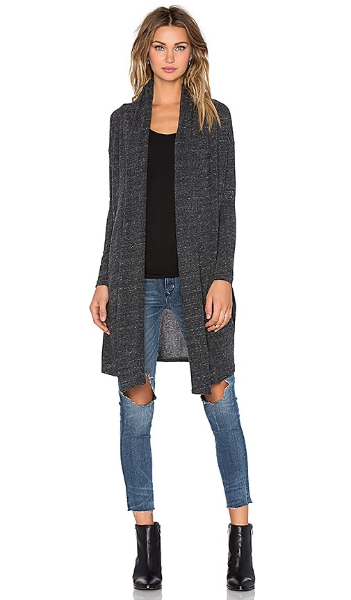 Kain Doven Sweater Jacket in Heathered Charcoal