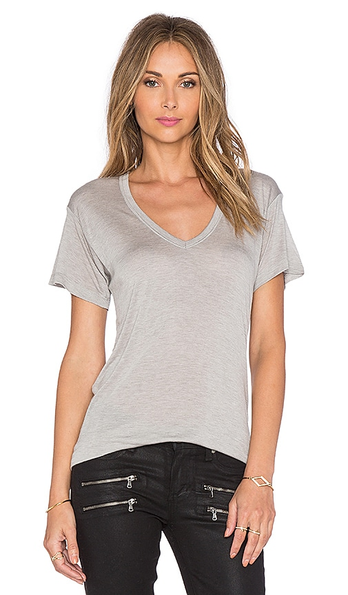 Sheer Jersey Classic V Neck