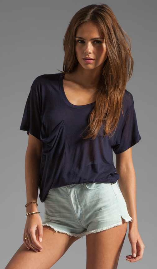 Sheer Jersey Classic Pocket Tee