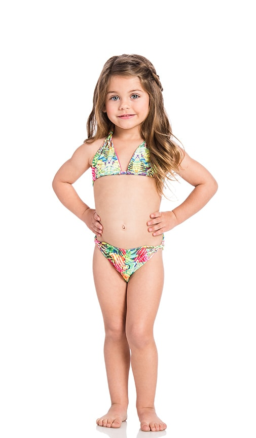 KAI LANI Mini Amazon Knotty Bikini in Green