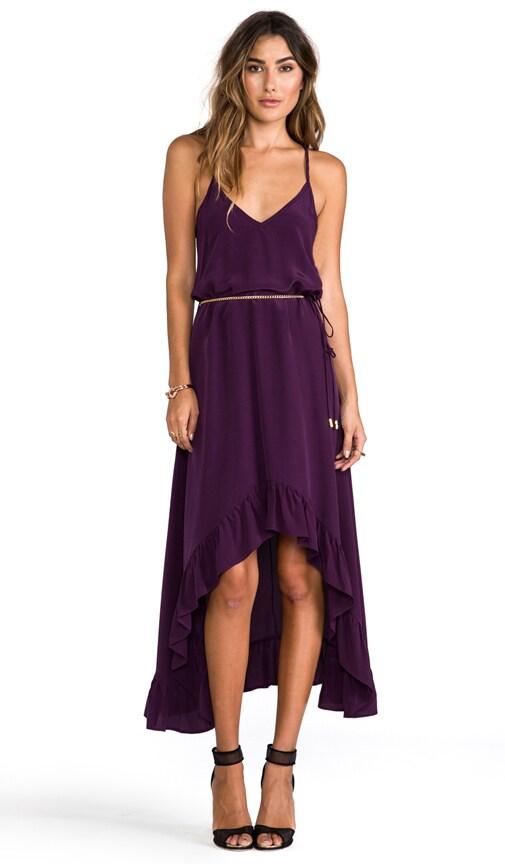 Silk Solids Romantic Maxi Dress