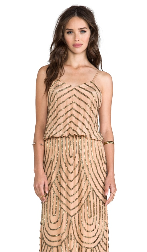 Deco Beaded Maxi Dress