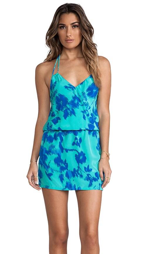 Gardenia Print Mini Dress