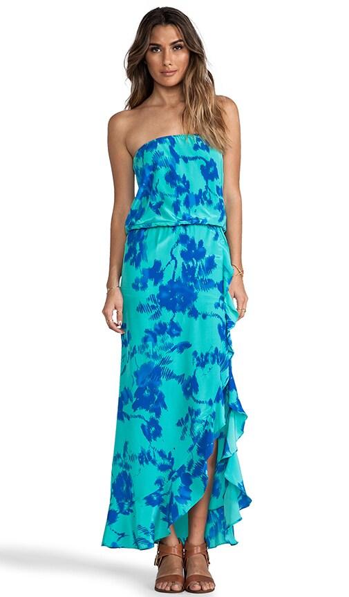 Vivienne Print Strapless Dress