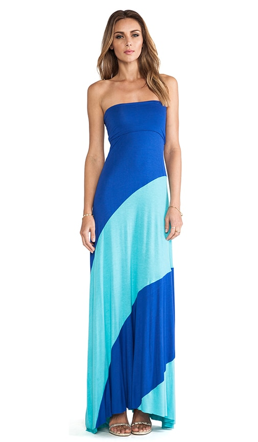 Strapless Bias Maxi Dress