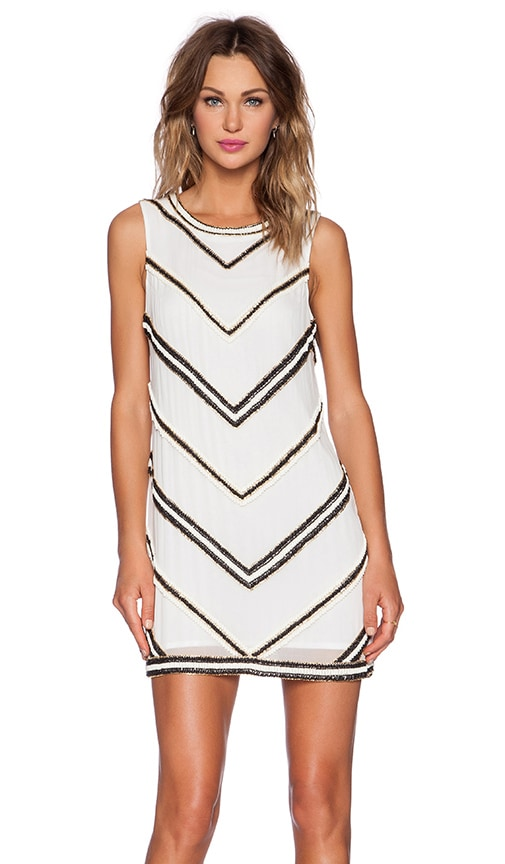 Karina Grimaldi Claire Beaded Dress in White