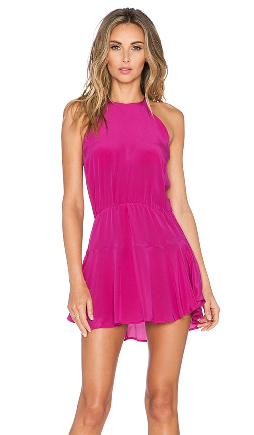 Karina Grimaldi Romina Mini Dress in Fuchsia
