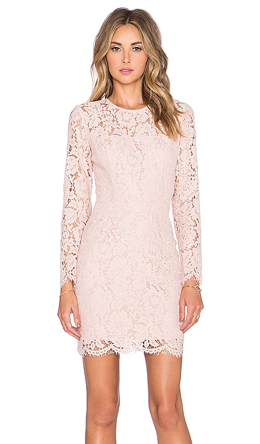 Karina Grimaldi Carla Lace Mini Dress in Blush
