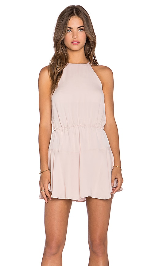 Karina Grimaldi Romina Mini Dress in Blush