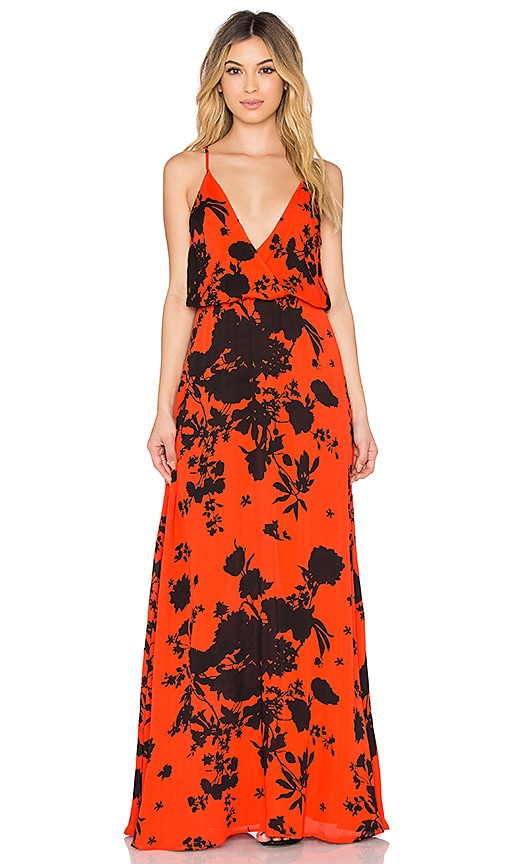 Karina Grimaldi Lola Maxi Dress in Red Rose