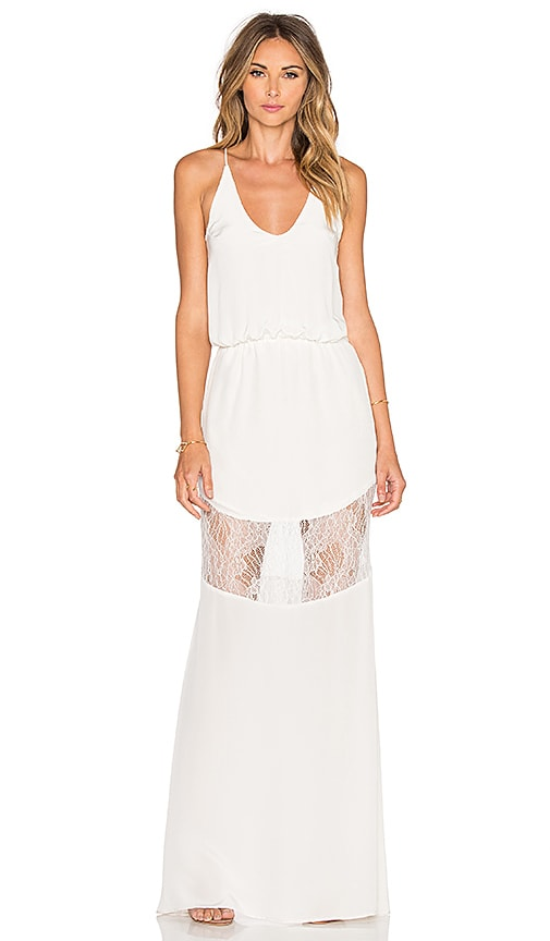 Karina Grimaldi Camila Maxi Dress in Ivory
