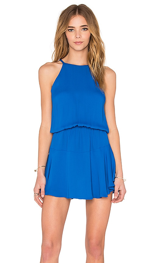 Karina Grimaldi Romina Mini Dress in Blue