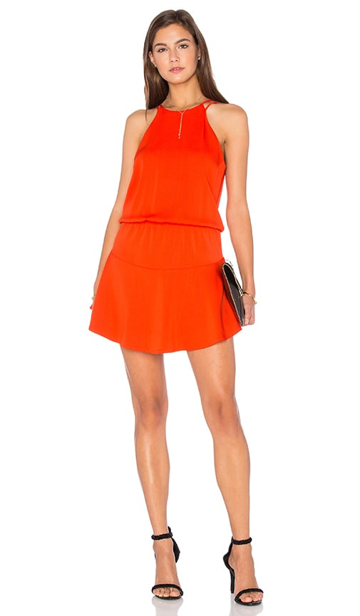 Karina Grimaldi Romina Mini Dress in Tangerine