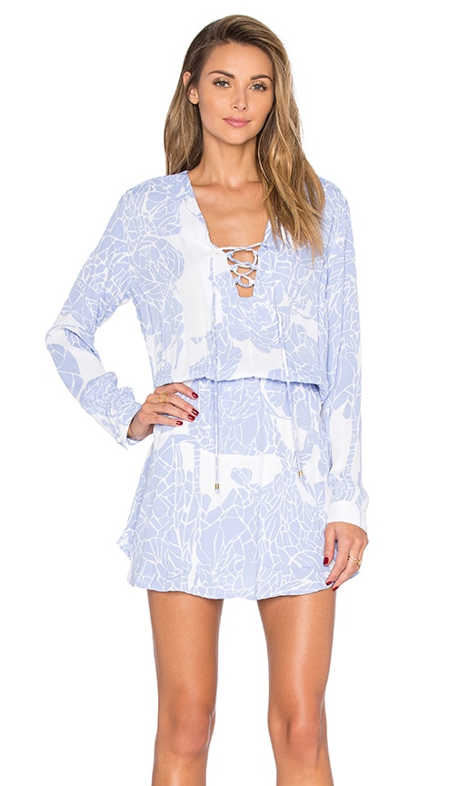 Karina Grimaldi Carol Mini Dress in Blue