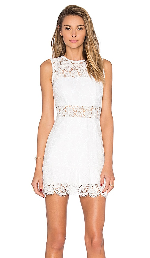 Karina Grimaldi Felicia Mini Dress in White