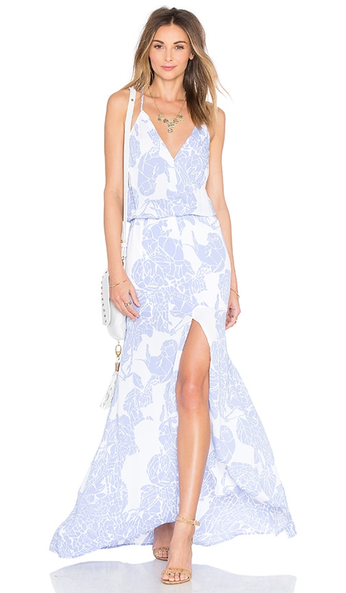 Karina Grimaldi Draco Maxi Dress in Blue