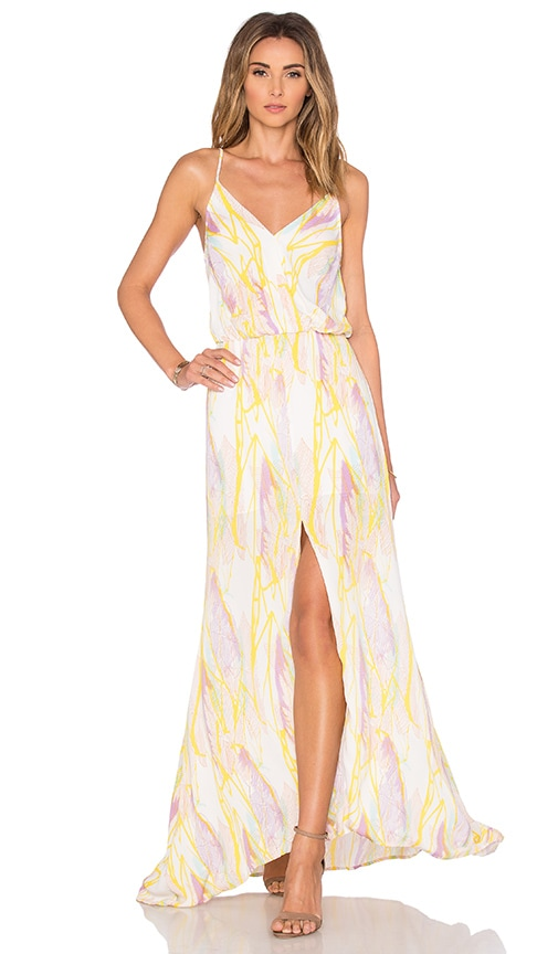 Karina Grimaldi Malena Maxi Dress in Yellow