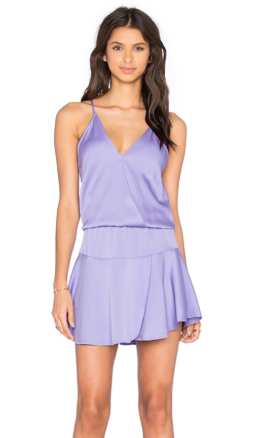 Karina Grimaldi Ollie Solid Mini Dress in Purple