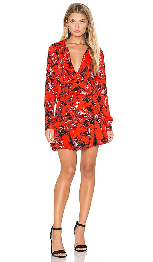 Karina Grimaldi Pilar Print Mini Dress in Red