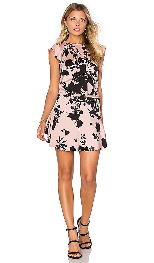 Karina Grimaldi Kaiya Print Mini Dress in Blush