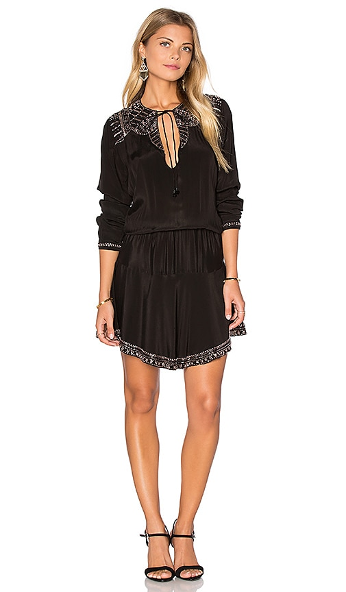 Karina Grimaldi Prince Beaded Mini Dress in Black
