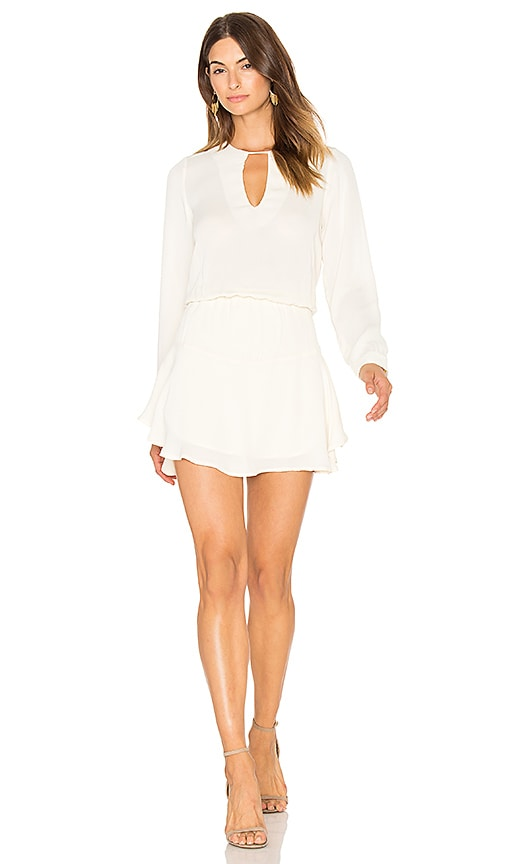 Karina Grimaldi Jack Solid Mini Dress in Ivory