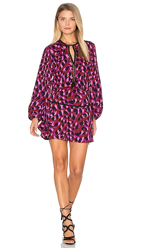 Karina Grimaldi Titti Print Mini Dress in Purple