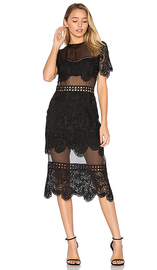 Karina Grimaldi Soho Lace Dress in Black